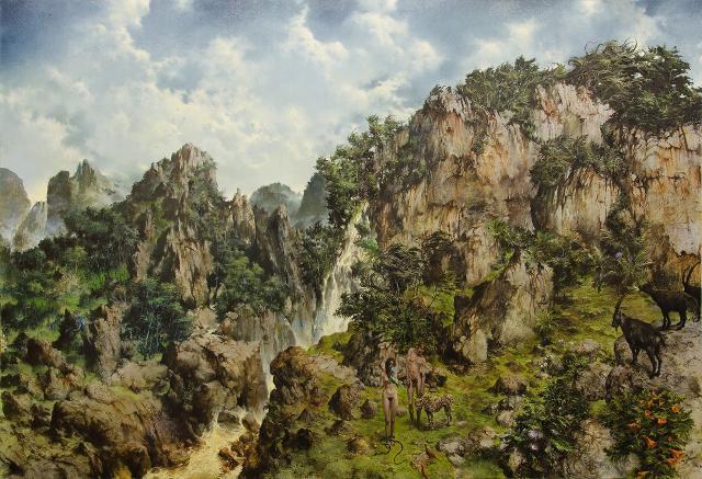 """Come Creatura"" - Francesco De Grandi (2018) - Olio su tela, 230cmx340cm"
