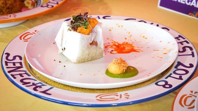 """Il piatto senegalese di """"Paco"""" Ndaye Alioune Badara, ha vinto il premio della giuria popolare"""