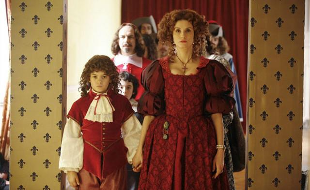 "Una scena  del film ""La reine et le Cardinal"""