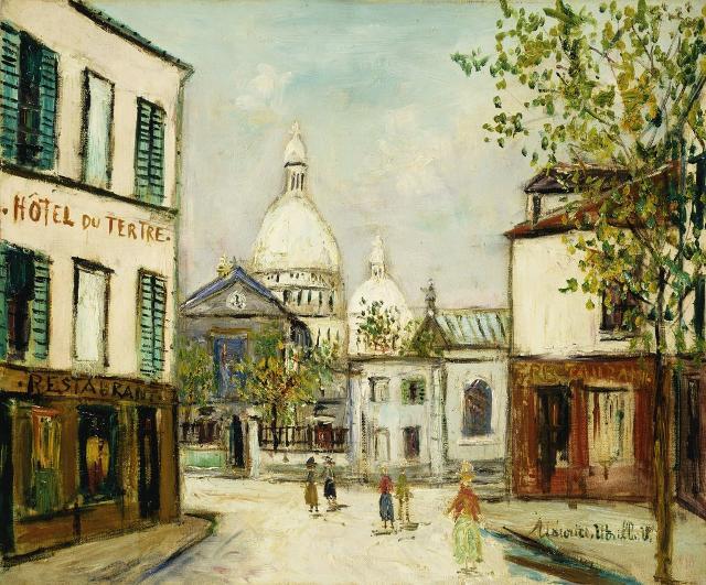 Le Sacre-Coeur a Montmartre di Maurice Utrillo