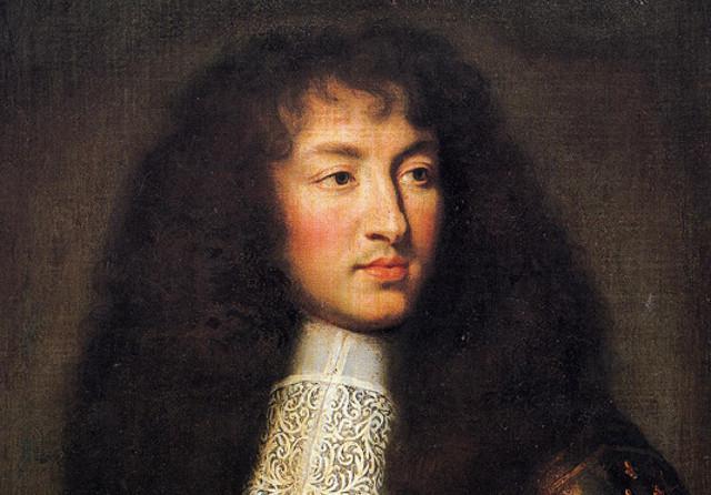 Luigi XIV in un ritratto di Charles Le Brun del 1661, anno in cui il re di Francia decise di governare autonomamente senza tutori né primi ministri.