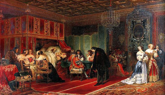 Morte del Cardinal Mazzarino, opera di Paul Delaroche