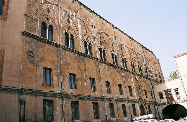L'affresco del Trionfo della Morte si trovava originariamente a Palazzo Sclàfani...