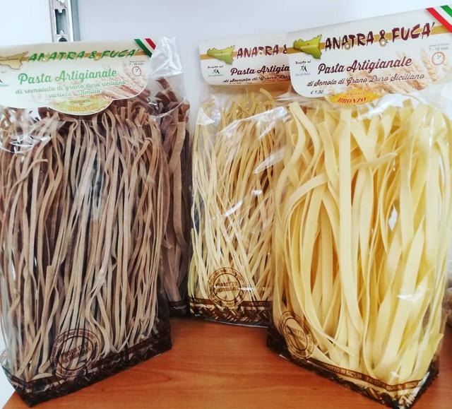 """La """"Pasta Artigianale"""" del panificio Anatra e Fucà di Petralia Soprana"""