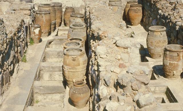 Pithoi nel palazzo di Cnosso