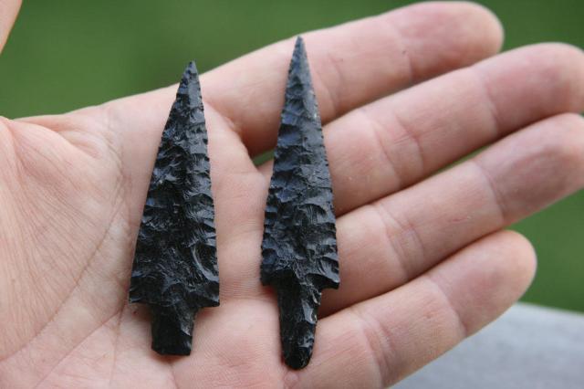 Punte di freccia in Ossidiana
