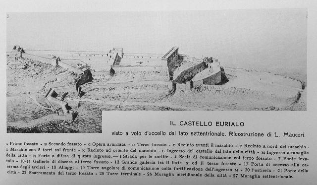 Ricostruzione del castello Eurialo di L. Mauceri