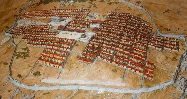 Ricostruzione della cittadina ellenistico-romana di Solunto