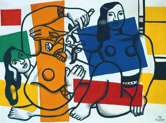 """""""Due donne che tengono i fiori"""" di Fernand Léger"""