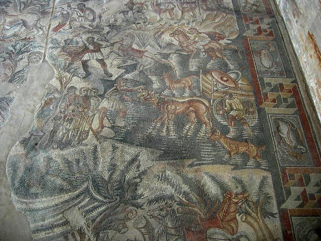 Il mosaico della Caccia nella Villa Romana del Tellaro - ph I, Sailko