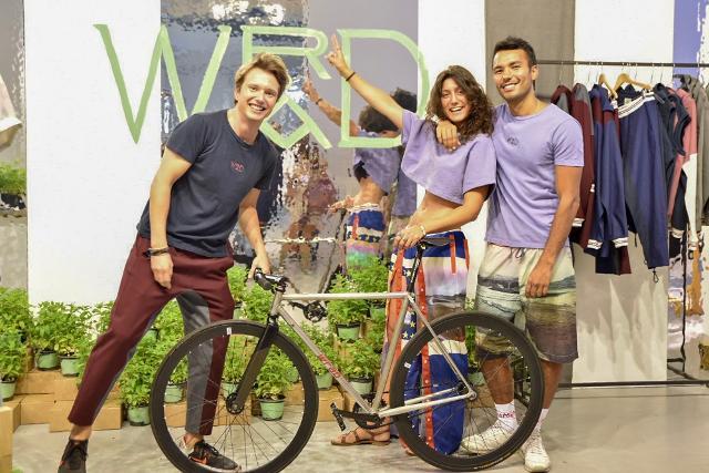 Matteo Ward, Silvia Giovanardi e Victor Santiago, i giovani fondatori del marchio WRAD