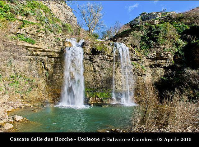 """Le """"cascate delle due rocche"""" a Corleone - ph Salvatore Ciambra"""