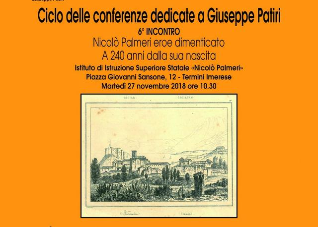Una conferenza per conoscere un eroe dimenticato di Termini Imerese: Nicolò Palmeri