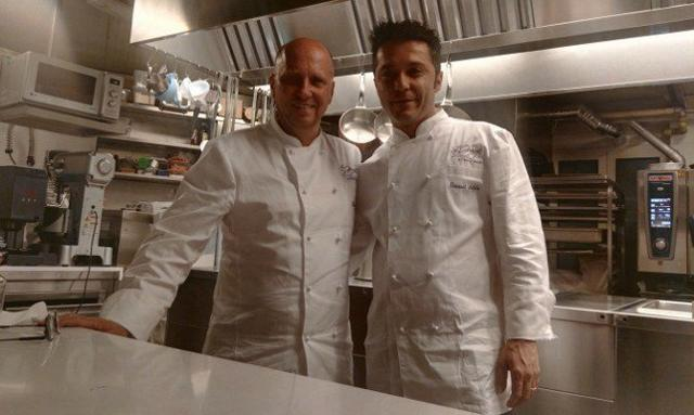 Lo chef  Heinz Beck con l'executive chef Giovanni Solofra