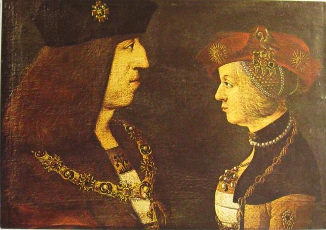 Massimiliano I d'Asburgo e sua moglie Bianca Maria Visconti