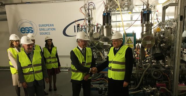 Il Presidente Sergio Mattarella in visita presso l'ESS di Lund, in Svezia
