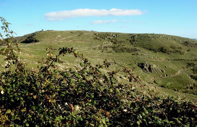 Monte Casale in cima al quale vi sono i resti di Casmene