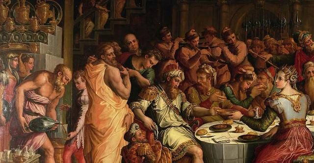 """Particolare de """"La cena di Ester ed Assueri"""" di Giorgio Vasari"""