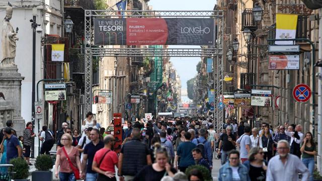 Corso Vittorio Emanuele, a Palermo, nei giorni de Le Vie dei Tesori