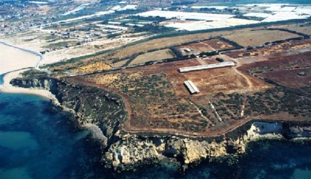 Veduta aerea del Parco archeologico di Camarina