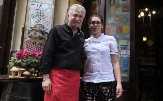Lo chef Giuseppe Carollo con la figlia Francesca