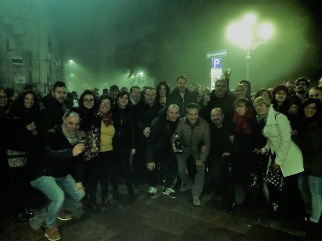 I festeggiamenti in piazza a Petralia Soprana, Borgo dei Borghi 2019