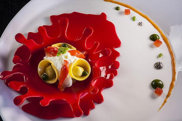 Un piatto dello chef Biuso