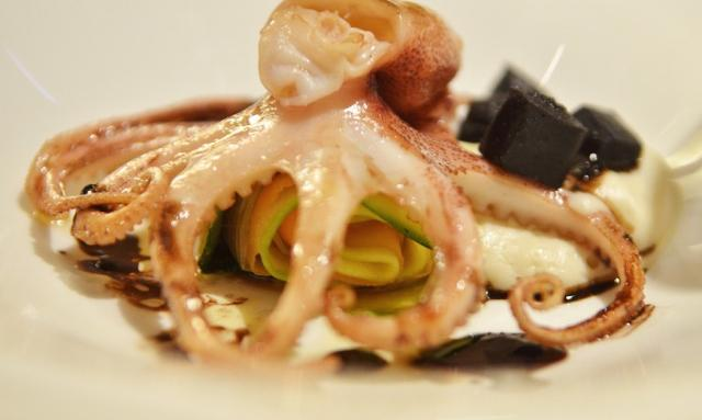 Un piatto dello chef Lo Coco