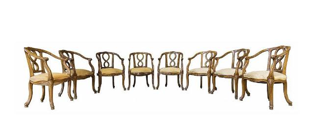 Poltroncine della Manifattura Ducrot su disegno di Ernesto Basile - Grand Hotel Villa Igiea