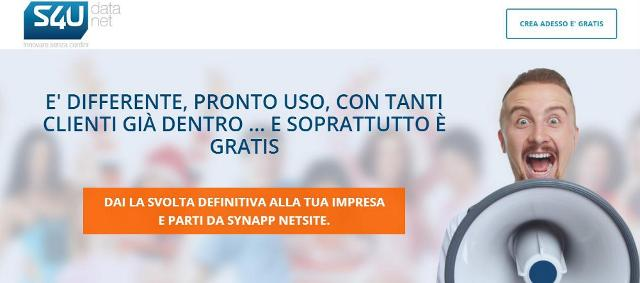 Dai una svolta definitiva alla tua impresa e parti da SynApp NetSite! È differente, pronto uso, con tanti clienti già dentro... e soprattutto è gratis!