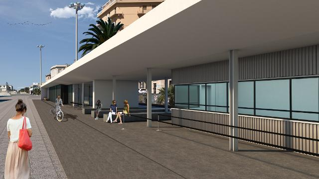 Rendering Trapani Fast Ferry Terminal