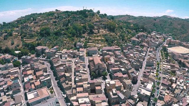 Veduta aerea di Valguarnera Floristella