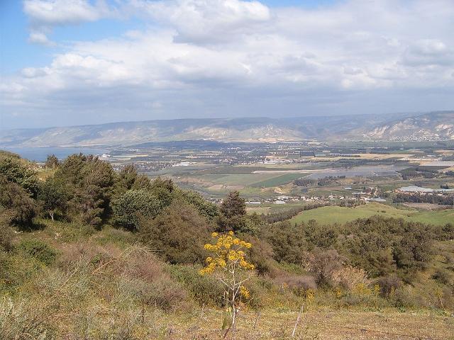 La valle del Giordano e la parte meridionale del mare di Galilea - ph heatkernel