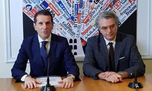 L'assessore Pappalardo alla conferenza stampa nella Sala Stampa Estera a Roma