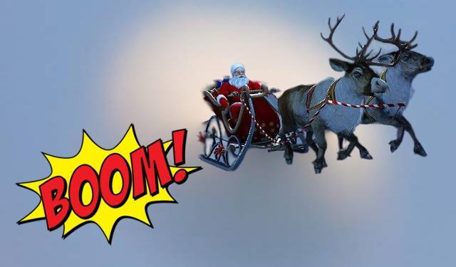 Babbo Natale e le sue renne infrangono il muro del suono...