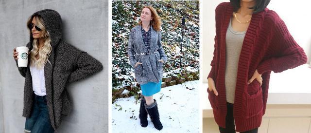 Il cardigan - la loro alternativa preferita a cappotti e giacche - può essere in morbida e calda lana o misto cashmere, in lana rasata o intrecciata...