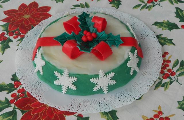 Una cassata siciliana natalizia