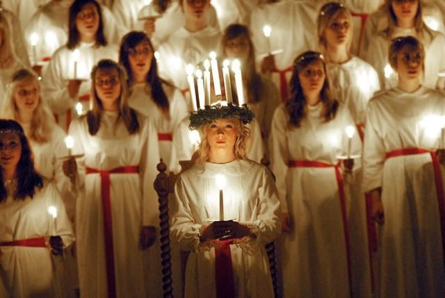 Coro per Santa Lucia, la Santa della Luce