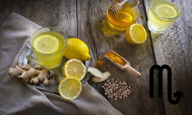 Per gli Scorpioni un infuso allo zenzero, limone e pepe