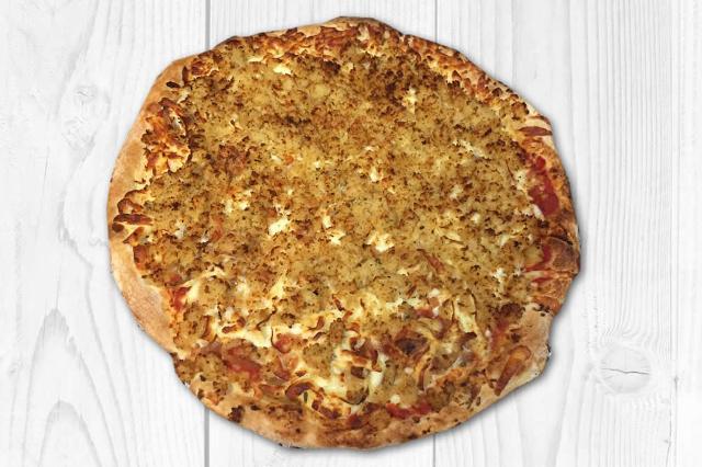 Una pizza-sfincione bagherese