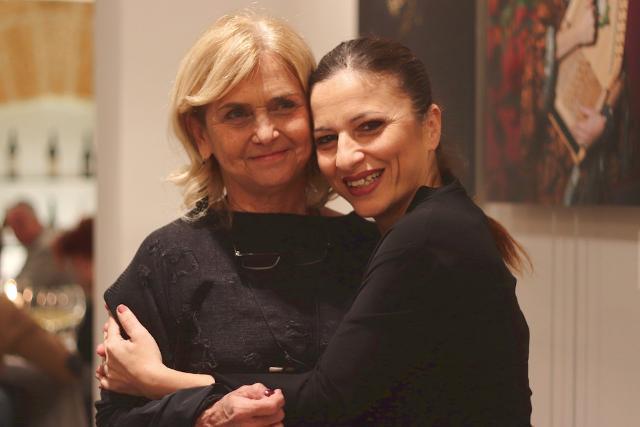 Renata Ferruzza e l'ingegnere Tiziana Di Pasquale che ha curato il nuovo look del PerciaSacchi di Palermo