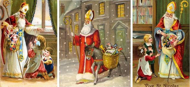 San Nicola che porta doni ai bambini