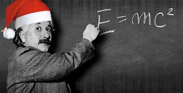 Santa Einstein!
