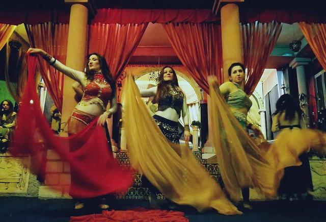 Le donne dell'harem di Erode in una scena del Presepe vivente di Castanea - ph Francesca Colorire