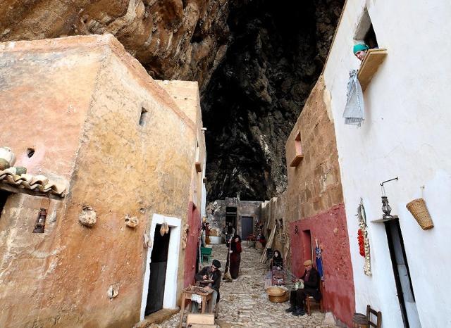 Uno scorcio del piccolo borgo di Scurati nei giorni del Presepe vivente di Custonaci