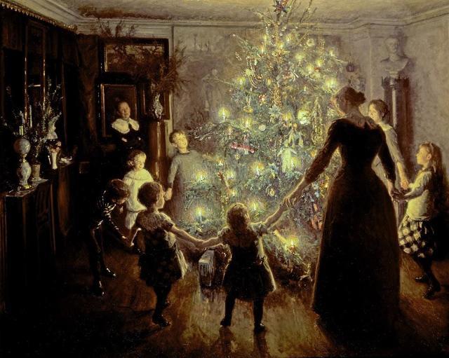 """Silent Night"" di Viggo Johansen (1891), olio su tela"