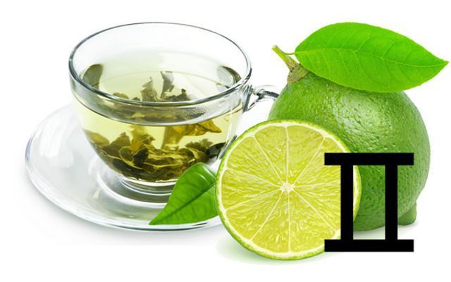 Per i Gemelli un tè esotico, come quello verde, lime e zucchero