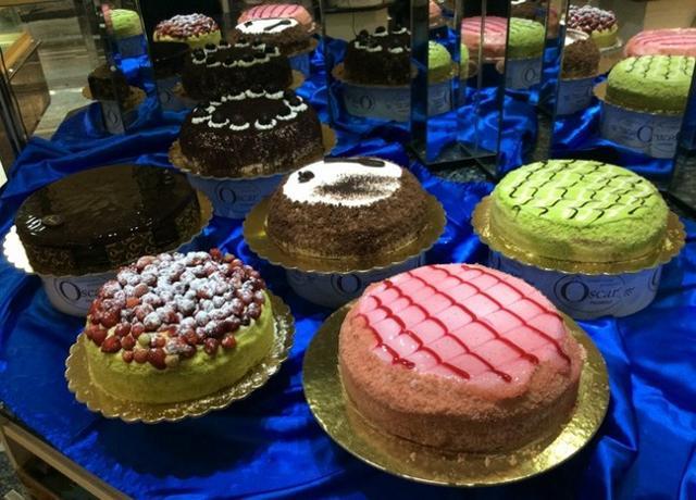 Alcune torte della Pasticceria Oscar 1965
