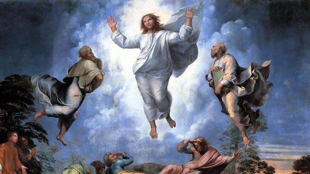 """""""Trasfigurazione di Cristo"""" part., Raffaello Sanzio (Tempera grassa su tavola, 1518-1520, Pinacoteca Vaticana)"""