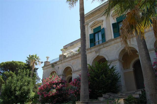 Uno scorcio di Villa Betania a Valderice